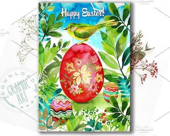 Printable Card Easter Bird