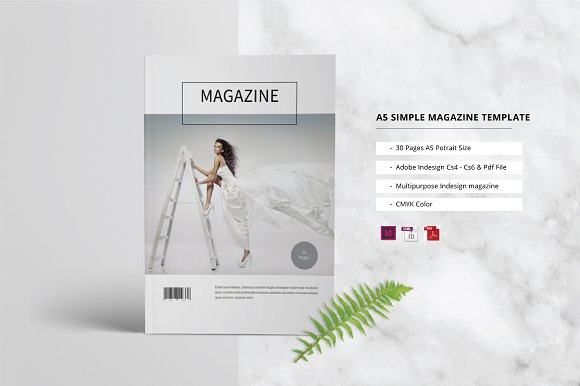 A5 Simple Magazine Template