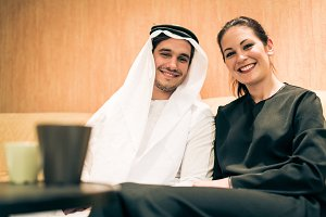 Arabic Couple At Home