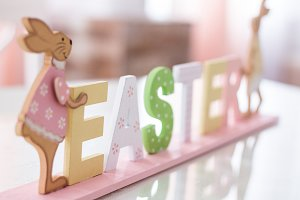 Wooden Easter letters
