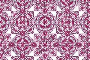 Squares and Diamonds Boho Pattern