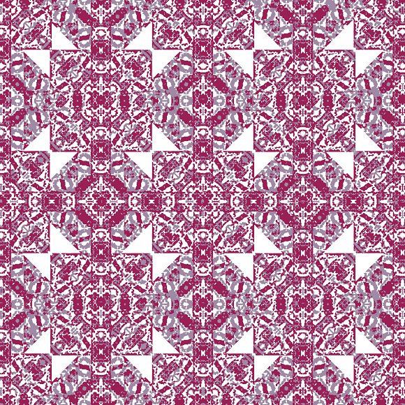 Squares And Diamonds Boho Pattern