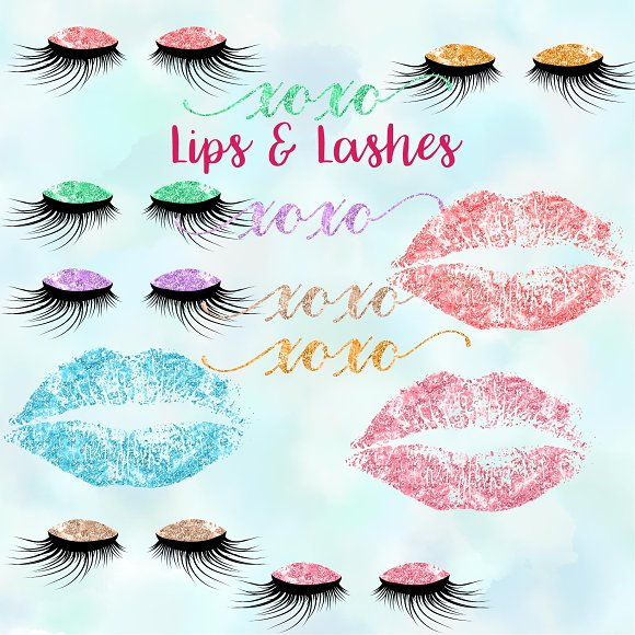 Lips Lashes Clipart