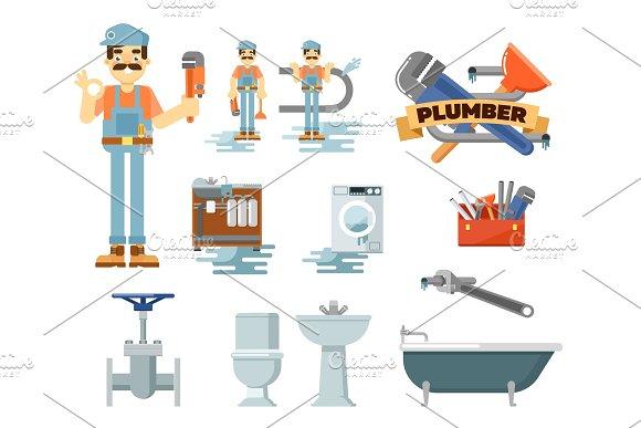 Professional Plumbing Repair Service Set