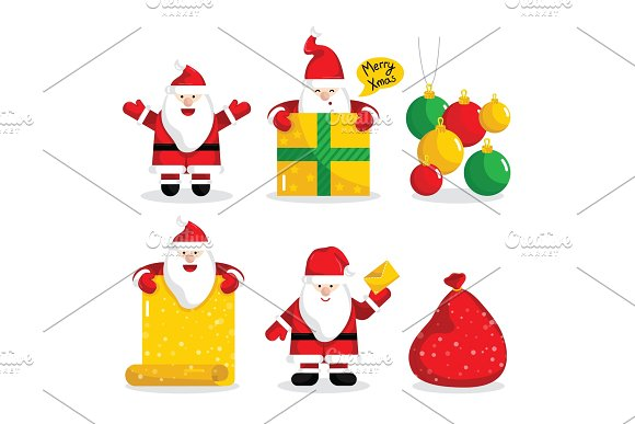 Christmas Santa Claus Characters Collection