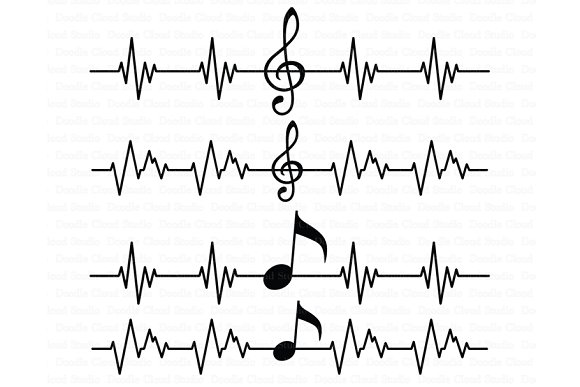 Musical Notes SVG Musical Heartbeat