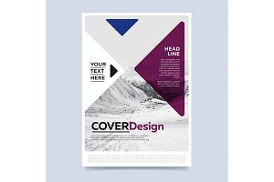 Brochure layout design vector illustration