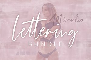 Procreate Lettering Brush Bundle
