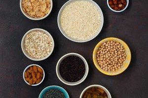 Set vegetarian healthy food