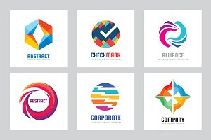 Abstract Business Vector Logo Set