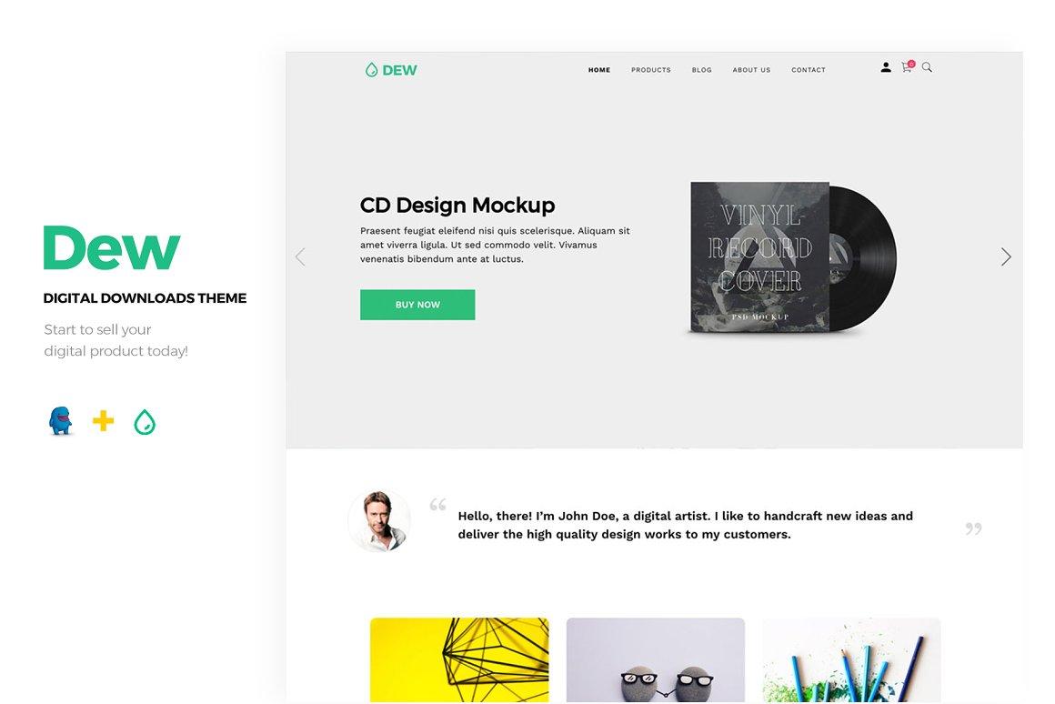 DGWork - Powerful Responsive Easy Digital Downloads Theme - 1