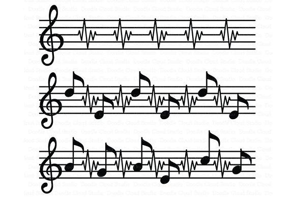 Music Score SVG Music Heart Beat