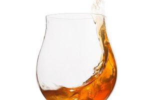 cognac in wineglass
