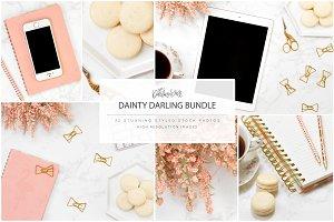 Marble Pink Desktop Macarons