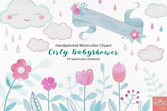 Girly Babyshower Graphics Pack Illustrations Creative Market
