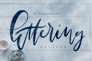 Procreate Textured Lettering Brushes