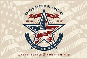 Vintage USA Independence Label