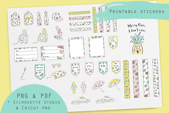 Printable Journal Stickers