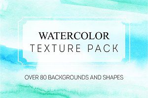 Watercolor texture pack.