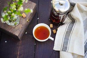 Spring tea concept