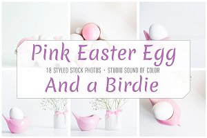 Easter Eggs Bundle Pink and White