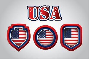 USA Flag Emblems