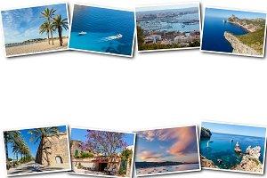 collage travel Spain Palma de Mallor