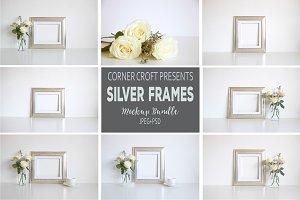Silver Photo Frame Mockup Bundle