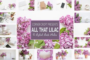 Pink and Purple Lilac Photo Bundle