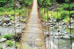 Suspense village bridge, Philippines