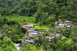 Village in mountains, Philippines