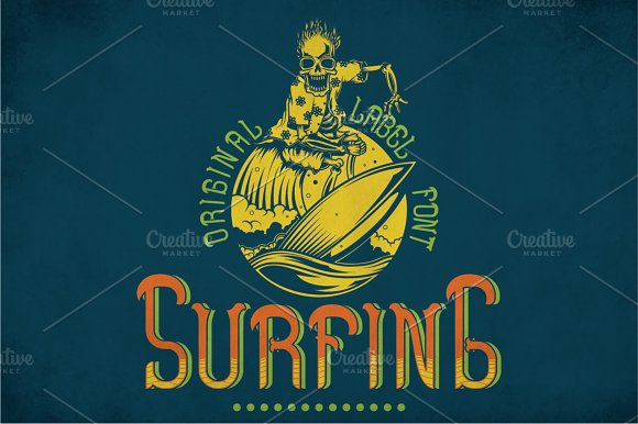Surfing Modern Label Typeface
