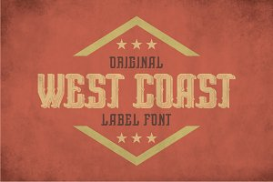 West Coast Vintage Label Typeface