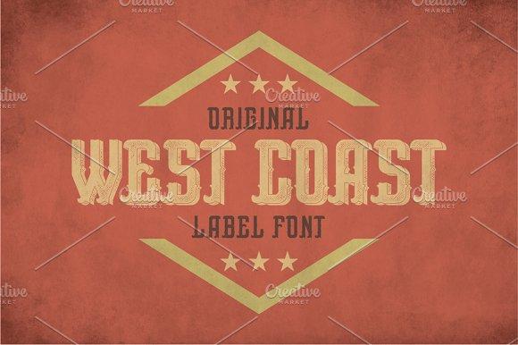 West Coast Vintage Label Typeface