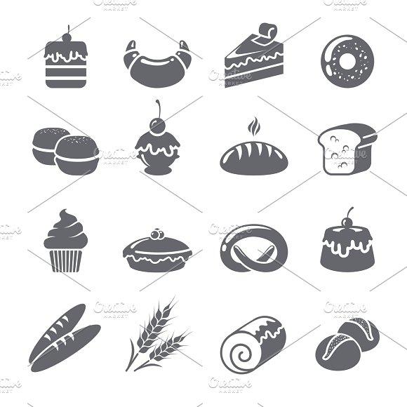 Baking icons black set