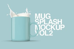 Mug Splash Mockups Vol.2