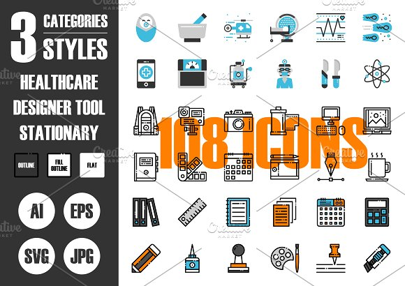 108 IconsЎБ3 Styles Vol.3