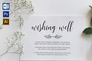 Wishing Well Card Template Shr446