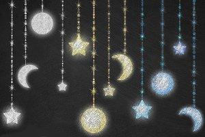 Chalkboard Celestial Clipart