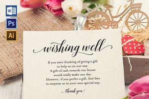 Wishing Well Card Template SHR448