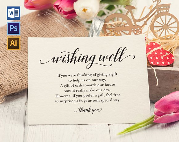 Wishing Well Card Template WPC 448