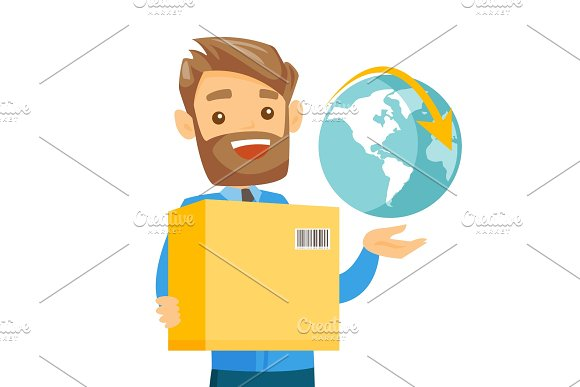 Business Worker Of International Delivery Service