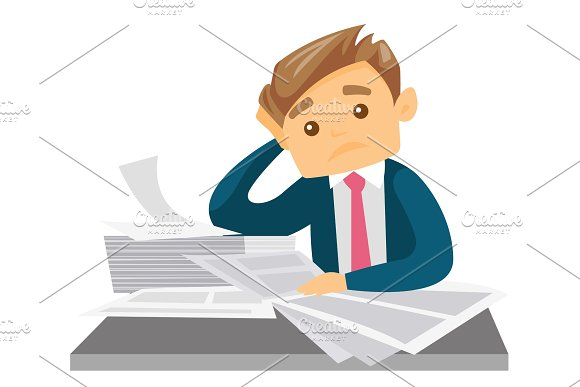 Business Woman Having Problem With Deadline