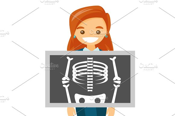 Young Caucasian White Man During X Ray Procedure
