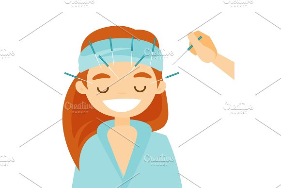 Acupuncturist Doctor Making Acupuncture Therapy
