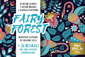 Fairy Forest vector collection