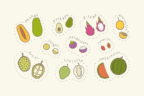 Tropical fruits in Objects - product preview 1