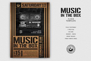 Music in the Box Flyer Template