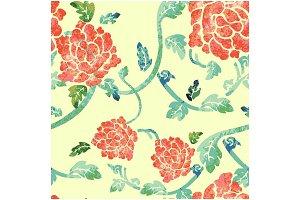 Orientally Floral pattern 002
