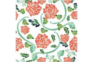 Orientally floral pattern